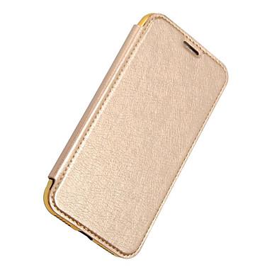 Pentru iPhone X iPhone 8 iPhone 8 Plus Carcase Huse Portofel Titluar Card Placare Întoarce Corp Plin Maska Culoare solidă Greu PU Piele