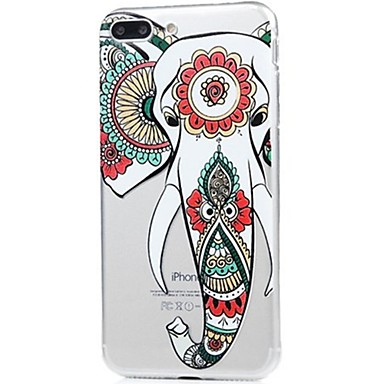 Capinha Para Apple iPhone X iPhone 8 Ultra-Fina Estampada Capa traseira Elefante Macia TPU para iPhone X iPhone 8 Plus iPhone 8 iPhone 7