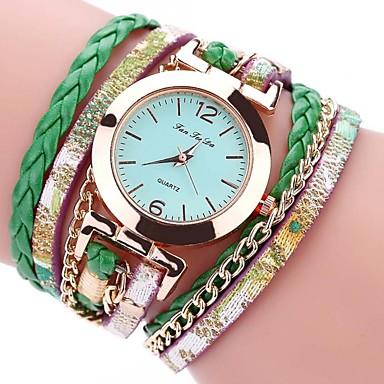 Femme Bracelet de Montre Montre Bracelet Chinois Quartz Chronographe Etanche Polyuréthane Bande Rétro Créatif Décontracté Elégant Noir