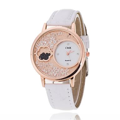 Pentru femei Ceas Elegant Ceas La Modă Ceas de Mână Chineză Quartz PU Bandă Charm Casual Elegant Negru Alb Albastru Roșu Pink Violet