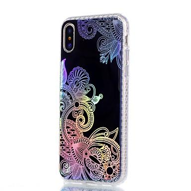 retro IMD 8 X iPhone Placcato Per pizzo Apple Morbido 06220669 TPU Per per Plus in Fantasia disegno iPhone stampa decorativo Fiore Custodia La wtX87Eqq