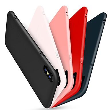 Pour iPhone X Etuis coque Dépoli Coque Arrière Coque Couleur unie Flexible Silicone pour Apple iPhone X