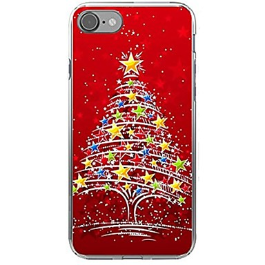 Case For Apple iPhone X iPhone 8 Pattern Back Cover Christmas Soft TPU for iPhone X iPhone 8 Plus iPhone 8 iPhone 7 Plus iPhone 7 iPhone