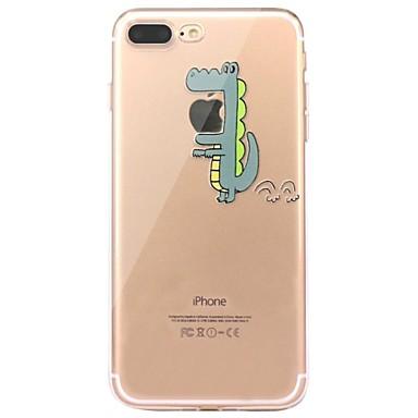 Pentru iPhone 7 iPhone 7 Plus Carcase Huse Ultra subțire Transparent Model Carcasă Spate Maska Desene Animate Moale TPU pentru Apple