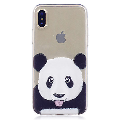 Maska Pentru Apple iPhone X iPhone X iPhone 8 iPhone 8 Plus Model Capac Spate Panda Moale TPU pentru iPhone X iPhone 8 Plus iPhone 8
