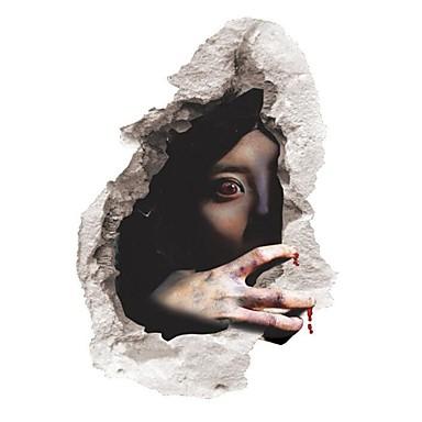 Halloween 3d groază fantoma perete autocolante amovibil înfricoșător de perete decalcomanii acasă decor