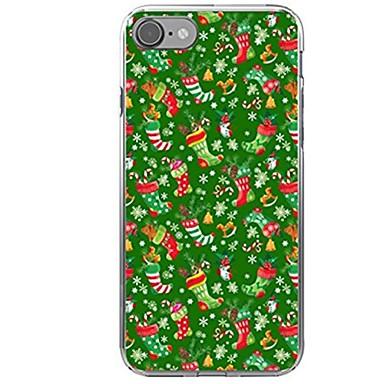 Para iPhone X iPhone 8 Case Tampa Estampada Capa Traseira Capinha Natal Macia PUT para Apple iPhone X iPhone 8 Plus iPhone 8 iPhone 7