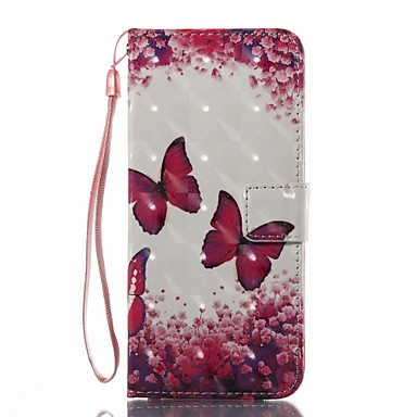 Case For Samsung Galaxy S8 Plus S8 Card Holder Wallet with Stand Flip Magnetic Pattern Full Body Cases Butterfly Hard TPU for S8 Plus S8