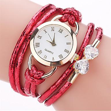 Pentru femei Ceas La Modă Ceas Brățară Simulat Diamant Ceas Chineză Quartz imitație de diamant PU Bandă Casual Boem Elegant Negru Alb