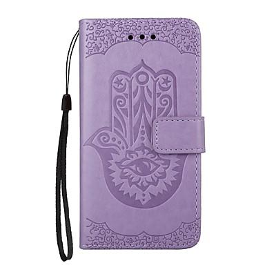Maska Pentru Samsung Galaxy Note 8 Titluar Card Portofel Cu Stand Întoarce Magnetic Model Embosat Carcasă Telefon Floare Greu PU piele