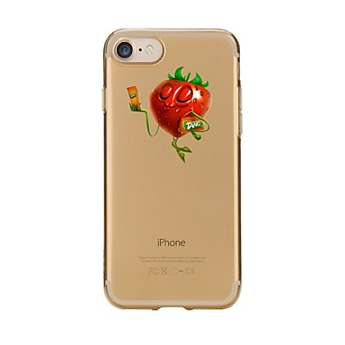 Maska Pentru Apple iPhone 7 Plus iPhone 7 Transparent Model Capac Spate Fruct Moale TPU pentru iPhone 7 Plus iPhone 7 iPhone 6s Plus