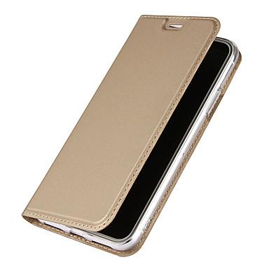 Maska Pentru Apple iPhone X iPhone X iPhone 8 iPhone 8 Plus Titluar Card Cu Stand Întoarce Magnetic Carcasă Telefon Culoare solidă Greu