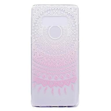 Maska Pentru Samsung Galaxy Note 8 Note 5 Transparent Model Capac Spate Floare Moale TPU pentru Note 8 Note 5