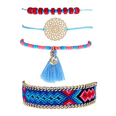 Pentru femei Brățări cu Lanț & Legături Brățări cu Talismane Ciucure Boem Ștras Aliaj Bijuterii Casual Stradă Costum de bijuterii