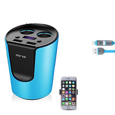 Universal Telefon încărcător USB Încarcator Rapid 52 cm 2 Prize 2 Porturi USB 3.1A DC 12V-24V