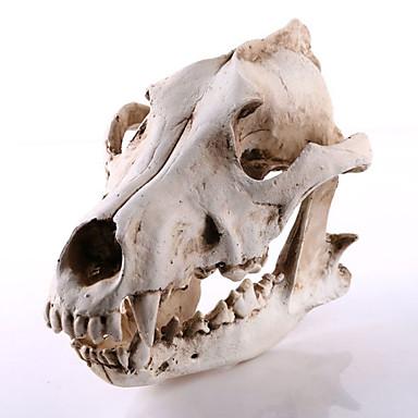 1pc răsărit de Halloween rășină sacal decorațiuni craniu acasă mobilier bijuterii ornamentele meserii