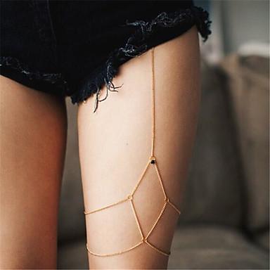 billige Damesmykker-Dame Kroppsmykker Fotlenke Gull / Sølv Geometrisk Form damer / Mote Strass / Jern Kostyme smykker Til Avslappet / Friluftslklær / Klubb Sommer