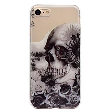 voordelige iPhone 5 hoesjes-hoesje Voor Apple iPhone 7 Plus / iPhone 7 / iPhone 6s Plus IMD / Patroon Achterkant Doodskoppen Zacht TPU