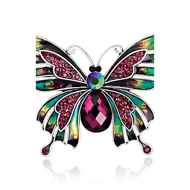 Dames Broches Bergkristal Basisontwerp Elegant Modieus Vintage PERSGepersonaliseerd Luxe Sieraden Eenvoudige Stijl Klassiek Kristal