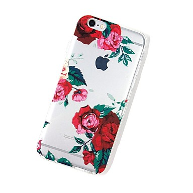 Per decorativo 7 Ultra Morbido TPU disegno iPhone Apple iPhone Per sottile 7 Fiore 7 Transparente 06198910 Custodia Plus iPhone per Fantasia retro ZqdYZ0x