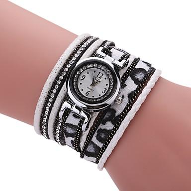 Pentru femei Ceas La Modă Ceas Brățară Simulat Diamant Ceas Chineză Quartz PU Bandă Vintage Charm Casual Elegant Negru Alb Albastru Roșu