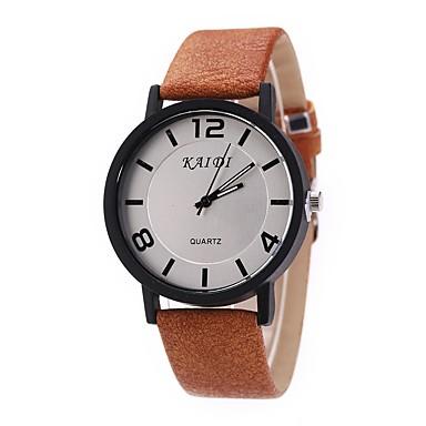 Bărbați Pentru femei Quartz Ceas de Mână Chineză cald Vânzare Piele Bandă Charm Vintage Casual Unic Watch Creative Lemn Elegant Modă