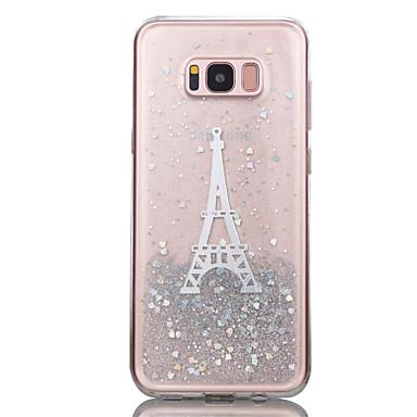 Maska Pentru Samsung Galaxy S8 Plus S8 Transparent Model Capac Spate Luciu Strălucire Turnul Eiffel Moale TPU pentru S8 Plus S8 S7 edge S7
