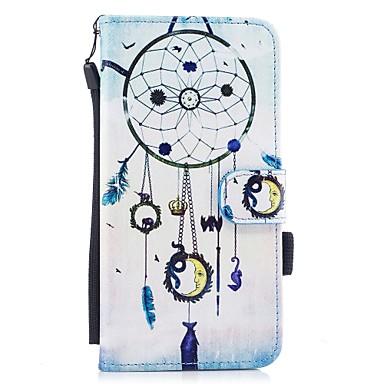 Pentru iPhone 7 iPhone 7 Plus Carcase Huse Portofel Titluar Card Cu Stand Întoarce Model Magnetic Corp Plin Maska Prinzător de vise Greu