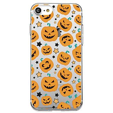 voordelige iPhone X hoesjes-hoesje Voor iPhone 7 / iPhone 7 Plus / iPhone 6s Plus iPhone 8 Plus / iPhone 8 / iPhone SE / 5s Transparant / Patroon Achterkant Cartoon / Halloween Zacht TPU