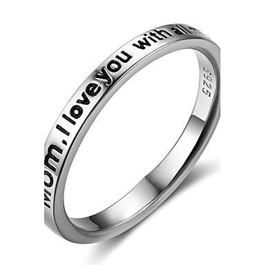 Pentru femei Inel Band Ring Argintiu Plastic Geometric Shape Γεωμετρικά Casual Ieșire Costum de bijuterii