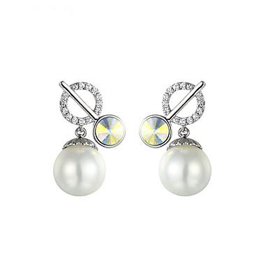 Pentru femei Cercei Stud Diamant sintetic Imitație de Perle Modă stil minimalist Argilă Rotund neregulat Bijuterii Argintiu Nuntă Logodnă