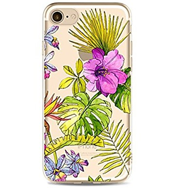Pentru iPhone 7 iPhone 7 Plus Carcase Huse Ultra subțire Transparent Model Carcasă Spate Maska Floare Moale TPU pentru Apple iPhone 7