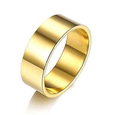 Pentru femei manşetă Ring Bijuterii Negru Argintiu Galben Roz auriu Oțel titan Argilă Placat Auriu Placat Cu Aur Roz Rotund Geometric