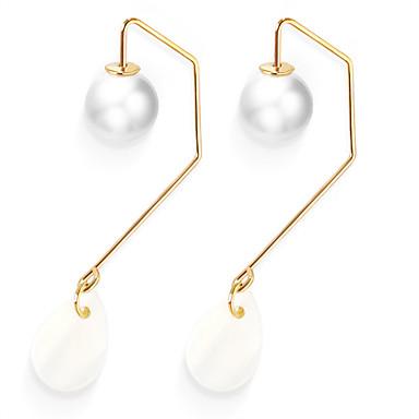 Pentru femei Cercei Stud Imitație de Perle Personalizat Modă Imitație de Perle Aliaj Picătură neregulat Bijuterii Auriu Zilnic Casual