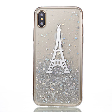 Maska Pentru Apple iPhone X iPhone X iPhone 8 iPhone 8 Plus Model Capac Spate Turnul Eiffel Moale Silicon pentru iPhone X iPhone 8 Plus