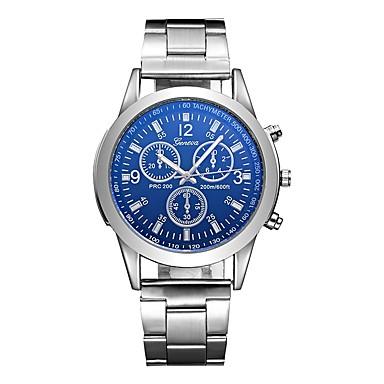 835eac51a226 Hombre Reloj Deportivo Reloj de aviacion Cuarzo Acero Inoxidable Plata  Resistente al Agua Creativo Analógico Encanto