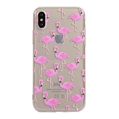 Maska Pentru Apple iPhone X iPhone 8 Model Carcasă Spate Flamingo Moale TPU pentru iPhone X iPhone 8  Plus iPhone 8