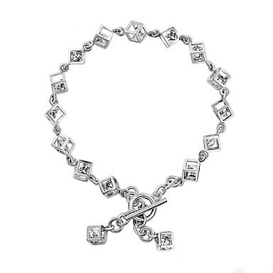 Pentru femei Brățări cu Lanț & Legături Zirconiu Cubic La modă Bling bling Argilă Round Shape Square Shape Bijuterii Pentru Logodnă