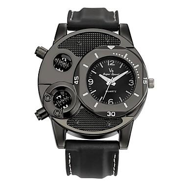 Bărbați Ceas de Mână Ceas Casual Ceas Sport Chineză Quartz / Silicon Cauciuc Bandă Vintage Casual Negru