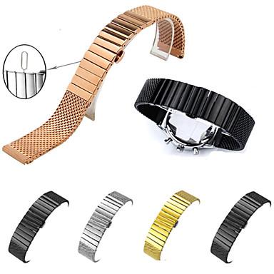 voordelige Horlogebandjes voor Samsung-Horlogeband voor Gear S3 Frontier / Gear S3 Classic / Gear S3 Classic LTE Samsung Galaxy Butterfly Buckle Roestvrij staal / Verguld Polsband
