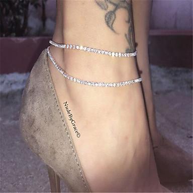Brățară Gleznă - Modă Argintiu / Auriu Pentru Zilnic / Casual / Pentru femei / Ștras