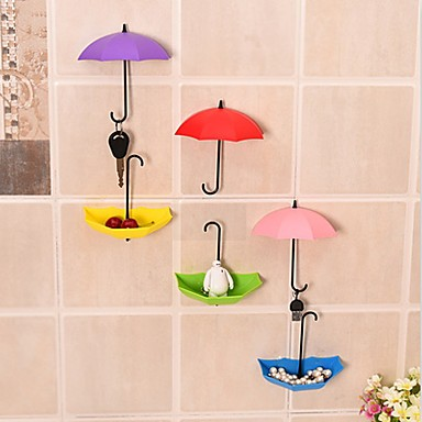Umbrella Wall Hook Key Hair Pin Holder Colorful Organizer Decor Decorate Key Hanger Rack Decorative Holder Wall Hook