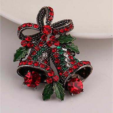 Women's Brooches - Rhinestone Brooch Gold For Christmas / Gift