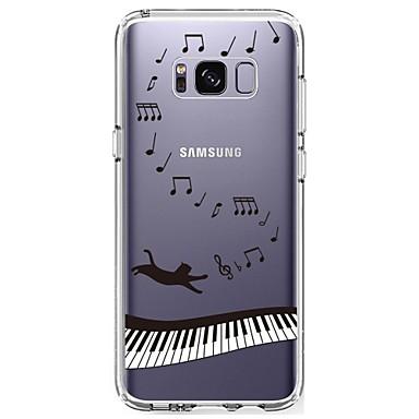 Кейс для Назначение SSamsung Galaxy S8 Plus S8 Ультратонкий Прозрачный С узором Кейс на заднюю панель Панк Мягкий ТПУ для S8 Plus S8 S7