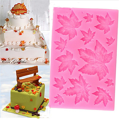 moule à gâteau en silicone feuille d'érable moule à bonbon au chocolat fondant Noël
