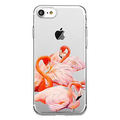 voordelige iPhone 5 hoesjes-hoesje Voor iPhone 7 / iPhone 7 Plus / iPhone 6s Plus iPhone 8 Plus / iPhone 8 / iPhone SE / 5s Patroon Achterkant Flamingo / dier Zacht TPU / iPhone X