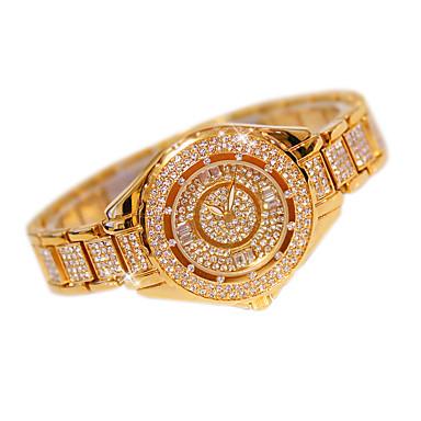Pentru femei Ceasuri Pave Ceas La Modă Quartz Oțel inoxidabil Bandă Casual Argint Auriu Roz auriu