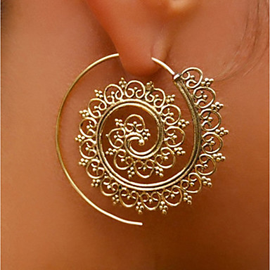 levne Náušnice-Dámské Peckové náušnice Náušnice - Kruhy Náušnice Prohlášení dámy Přizpůsobeno Šperky Zlatá / Stříbrná Pro Podium Klub