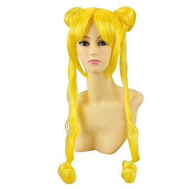 Cosplay Perukları Sailor Moon Sailor Moon Anime Cosplay Perukları 100 CM Isı Dirençli Fiber Kadın's