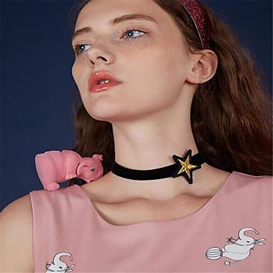Pentru femei Αστέρι Personalizat Γεωμετρικά Modă Euramerican Coliere Choker Bijuterii Material Textil Coliere Choker . Zi de Naștere